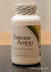 Bottle of Extreme Amino supplement