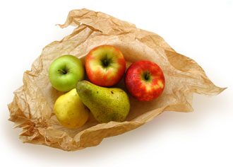 Bag of fresh fruit