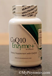 CoQ10 supplement bottle