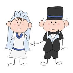 Drawing newlyweds