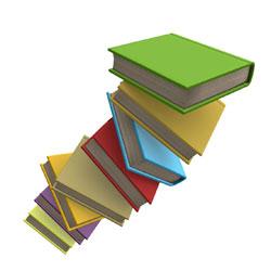 Drawings book pile