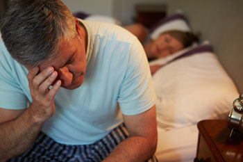 Man with erectile dysfunction cannot sleep
