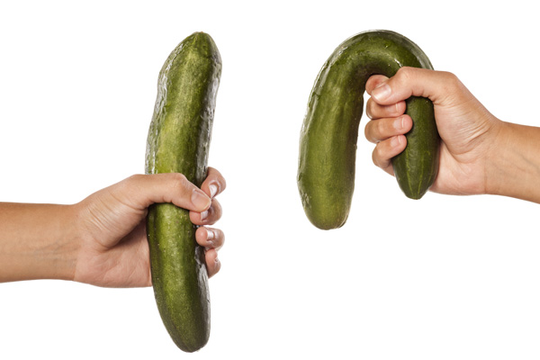 Firm and flaccid cucumber