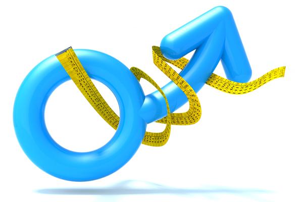 Men symbol erect and measured