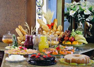 Delicious breakfast table