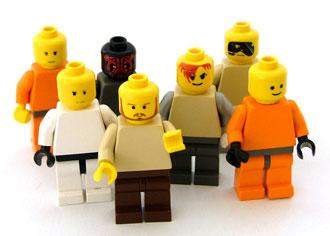 Men made of Lego
