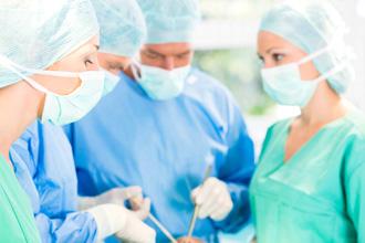 Doctors performing Peyronie's surgery