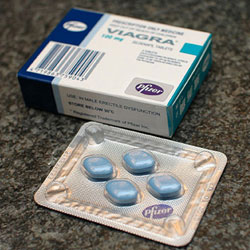Pack of Viagra tablets
