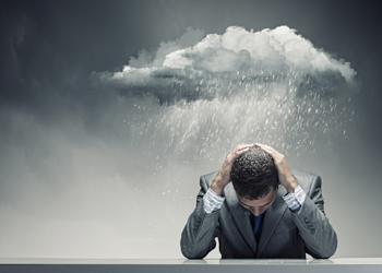 Depressed man because has Peyronie's disease