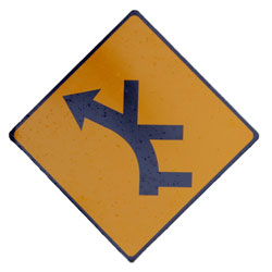 Road sign showing all kinds of directions